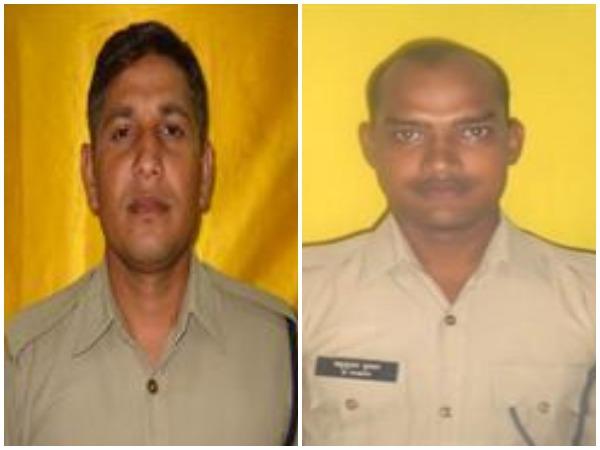 Constable Manoj Kumar (L) and Constable Madhusudan (R)