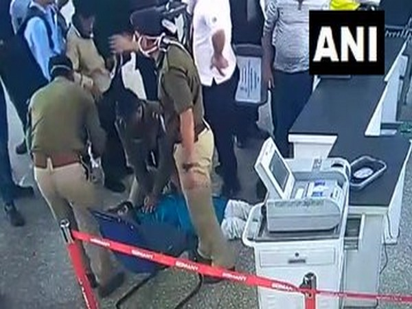 Two CISF personnel saved the life of a passenger by giving him CPR at Kolkata Airport on Saturday. Photo/ANI