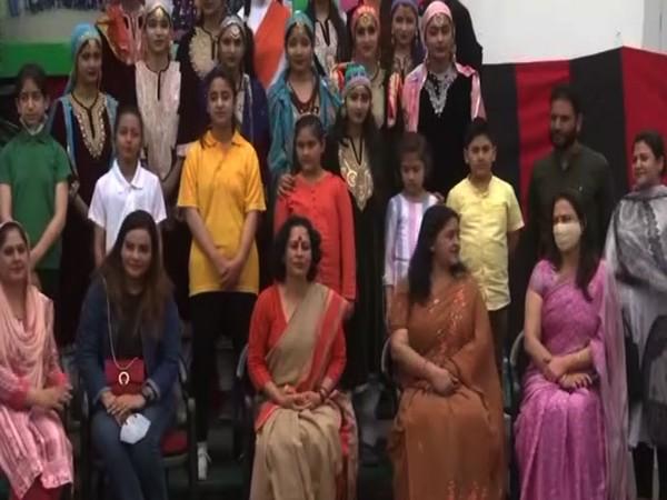 Visual of cultural programme for school children in Srinagar. (Photo/ANI)
