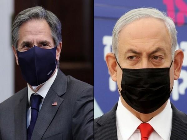 US Secretary of State Antony Blinken and Israel PM Benjamin Netanyahu