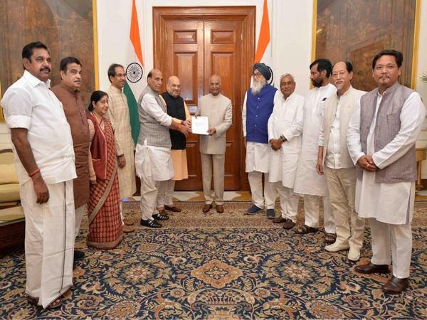 NDA delegation meets President Kovind
