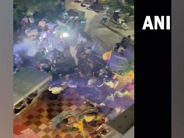 Visuals of the clash in Andhra Pradesh's Guntur. (Photo/ ANI)