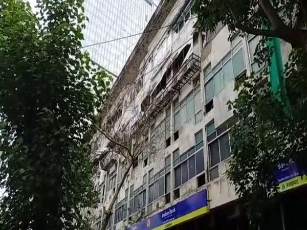 Cylinder blast reported at Manish Commercial Centre, Worli in Mumbai on Friday morning. (Photo/ANI)