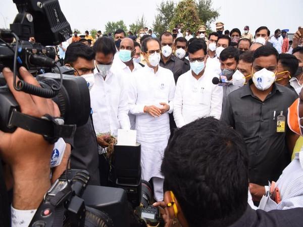 Maharashtra Chief Minister Uddhav Thackeray talking to media on Wednesday. (Photo/ANI)