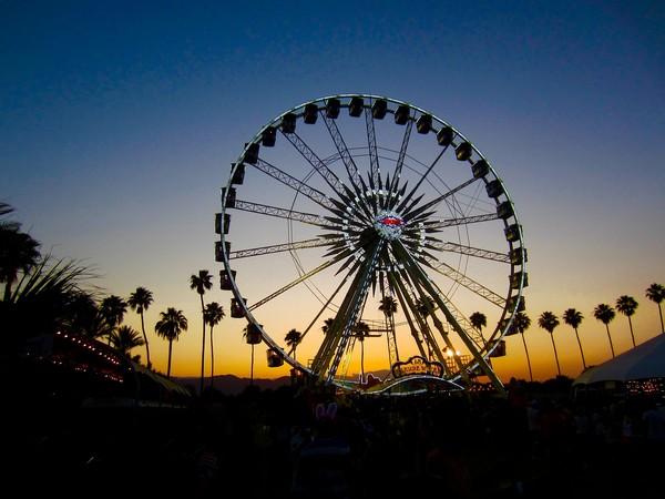 Coachella Ferris Wheel (Image courtesy: Instagram)