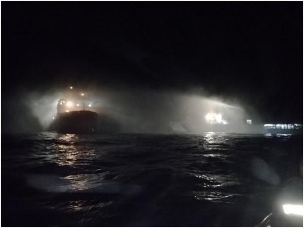Coast Guard ships doused major fire on board a research vessel Sagar Sampada