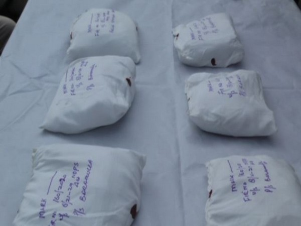 The cocaine were recovered from Baramulla in Jammu and Kashmir. (Photo: ANI)