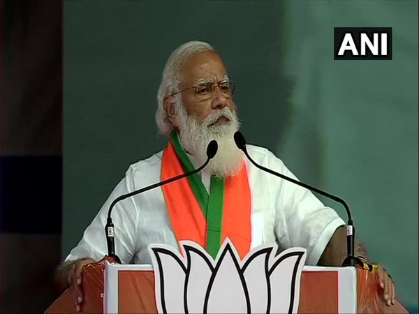 Prime Minister Narendra Modi speaking at the public gathering in Coimbatore on Thursday.