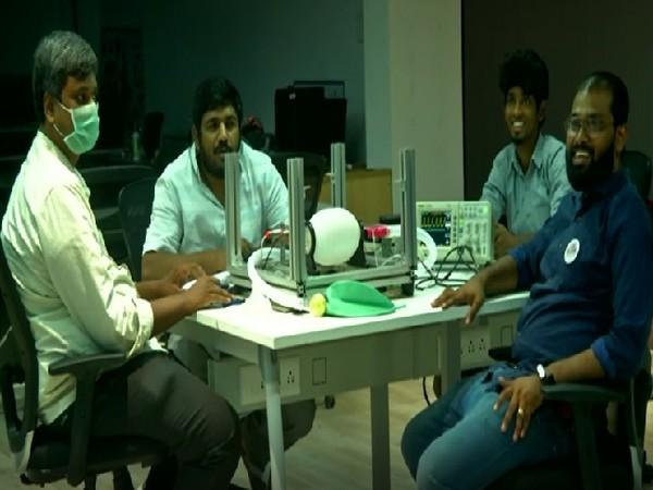 Team members that developed the ventilators in Coimbatore, Tamil Nadu.