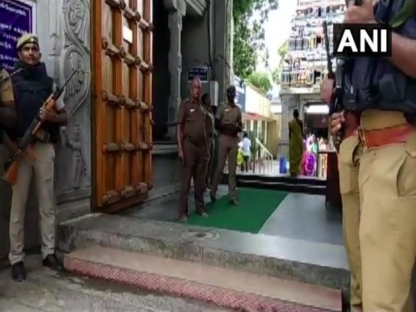 Security forces deployed outside important temples after infiltration of six terrorists. Photo/ANI
