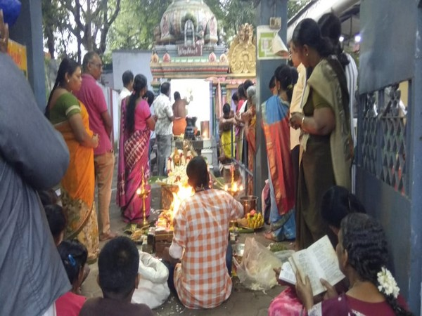 Visual from the 'yagna' in Coimbatore.