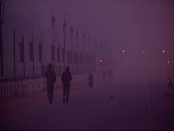 A thick blanket of fog engulfs Delhi on