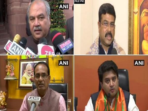 BJP Leaders Narendra Singh Tomar, Dharmendra Pradhan, Shivraj Singh Chauhan, Jyotiraditya Scindia. (File Photo)