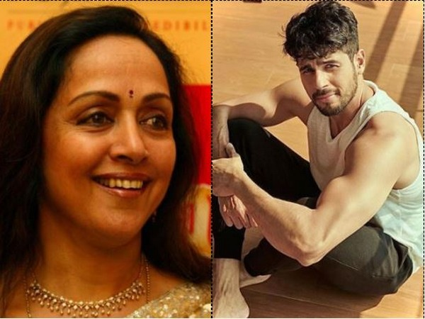 Hema Malini and Sidharth Malhotra (Image courtesy: Instagram)