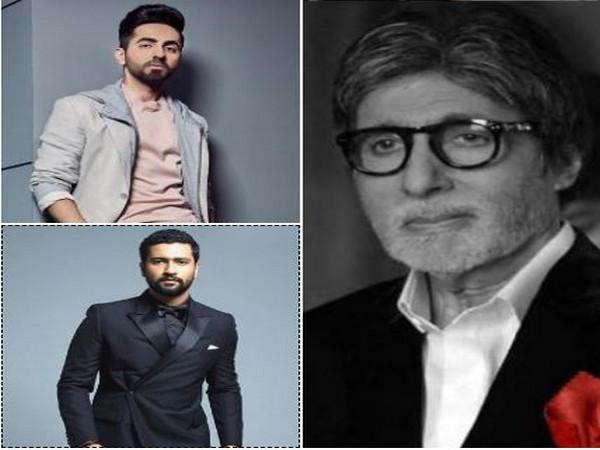Amitabh Bachchan, Ayushman Khurana and Vicky Kaushal