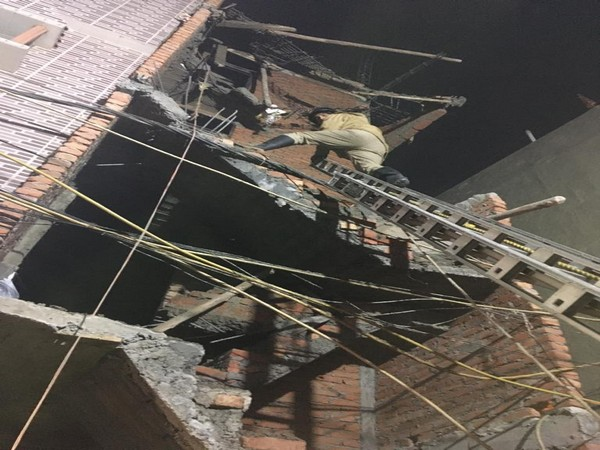 An under-construction building collapsed in East Delhi's Trilokpuri area on Tuesday.