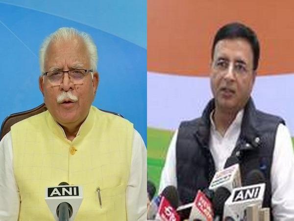 Haryana Chief Minister Manohar Lal Khattar and Congress leader Randeep Singh Surjewala (File Photo)