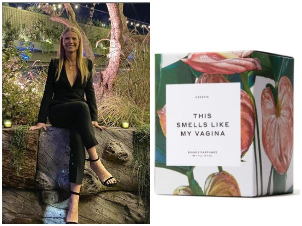 Actor Gwyneth Paltrow and the 'This Smells Like My Vagina' candle selling on her online store