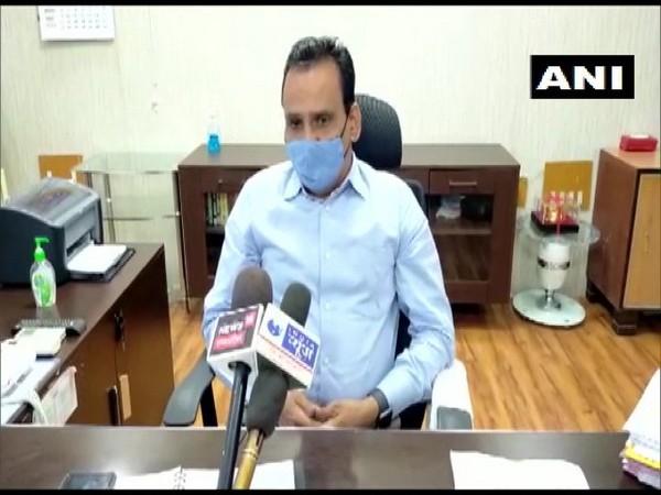 District Collector Barwani Shivraj Singh Verma speaking to media on Thursday.