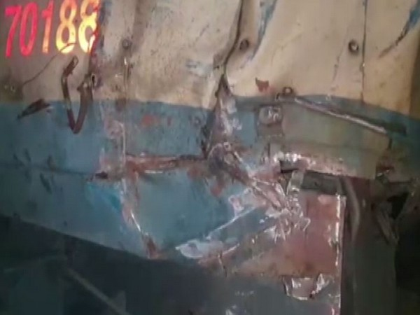 Goods train collided with oil tanker in Mathura on Sunday