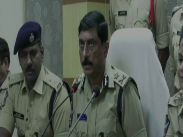 Visakhapatnam Police Commissioner RK Meena in a press conference. Photo/ANI