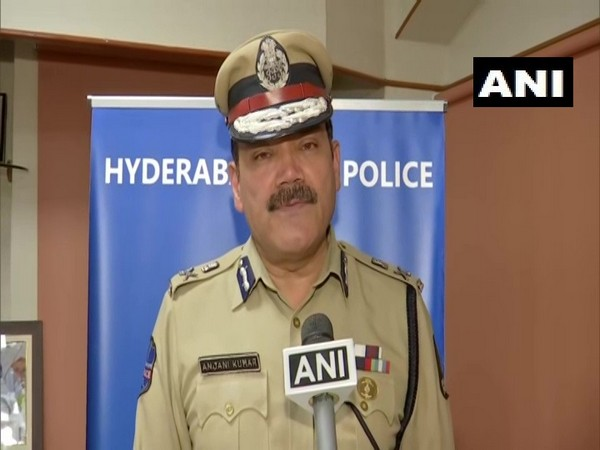 Anjani Kumar, Commissioner of Police,  Hyderabad talking to ANI on Monday