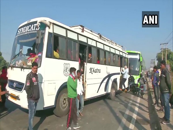 Amid the 'Delhi chalo' farmer's protest march, commuters headed towards the national capital are facing problems after getting stuck on Delhi-Panipat Highway.