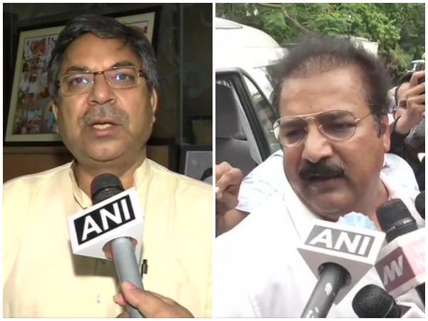 Rajasthan BJP president Satish Punia (left) and Congress leader Pratap Singh Khachariyawas (right)