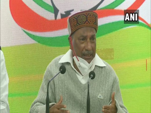 Former Defence Minister and Congress leader AK Antony at a press conference in New Delhi on Sunday.