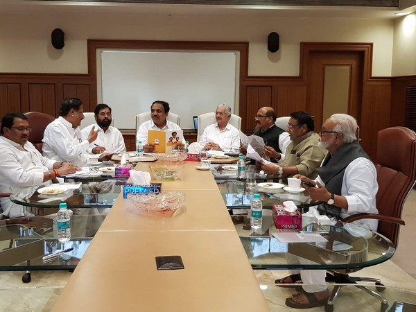 Leaders of Shiv Sena, Congress and NCP met for the second day on Thursday to discuss the CMP. Photo/ANI