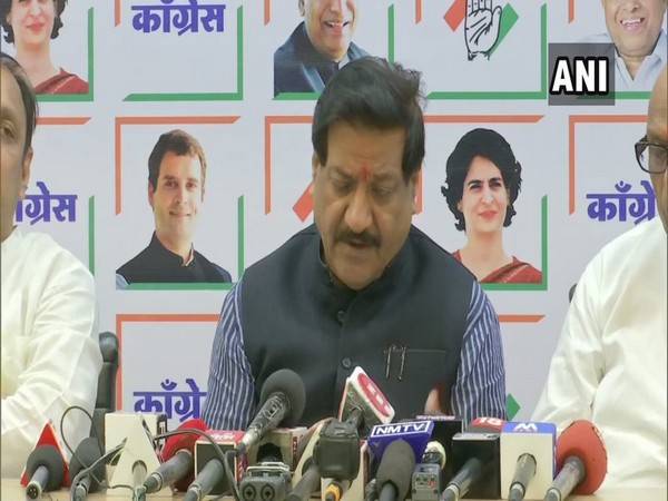 Congress leader Prithviraj Chavan speaking to reporters in Mumbai, Maharashtra on Monday.