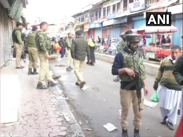 Security personnel at the site of attack in Baramulla on Saturday. Photo/ANI