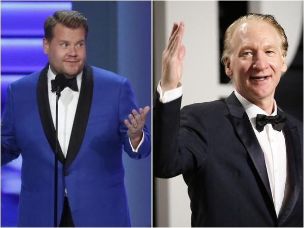 James Corden and Bill Maher