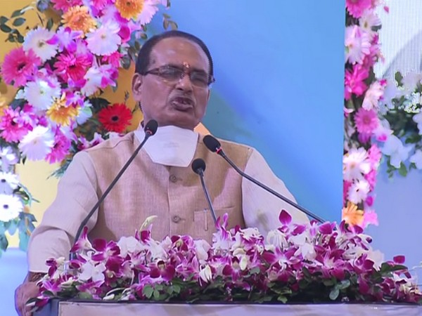 Chief Minister Shivraj Singh Chauhan at the felicitation ceremony for corona warriors in Bhopal. (Photo/ANI)