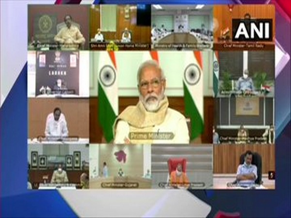 Prime Minister Narendra Modi held a meeting with chief ministers of 15 states and union territories over COVID-19, via video conferencing on Wednesday.