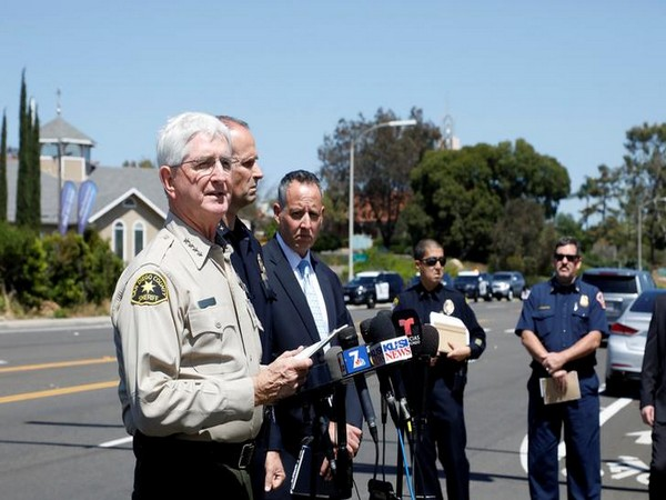 San Diego County Sheriff Bill Gore addressing the press at the shooting site