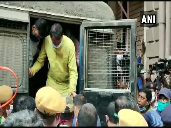 TMC leader Chhatradhar Mahato brought to Bankshall Court in Kolkata earlier today (ANI/ Photo)