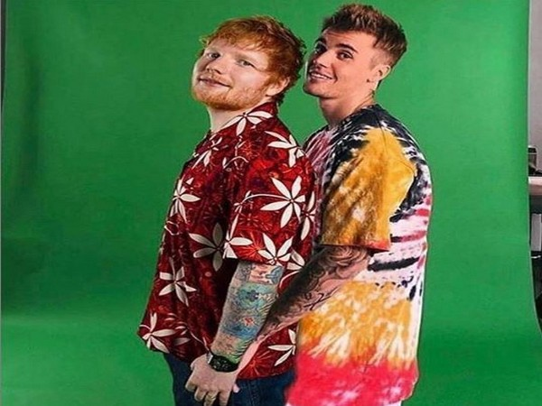 Ed Sheeran and Justin Bieber (image courtesy: Instagram)
