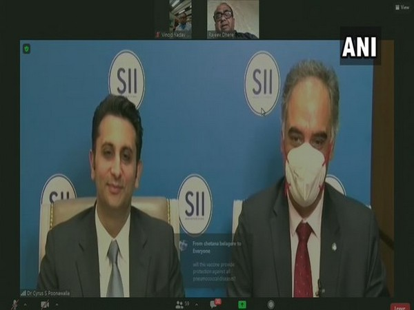 Adar Poonawalla (on left) at the video conference.