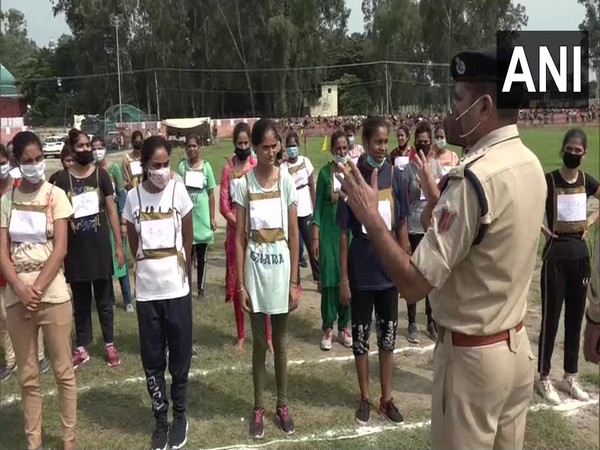 Visual from a stadium in J-K's Kathua during a police recritment drive. (Photo/ANI)