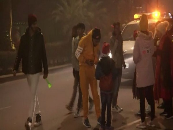 People thronged to Connaught Place to celebrate New Year 2020