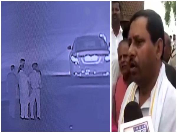 CCTV footage from spot / BJP MP Ram Shankar Katheria speaking to media.