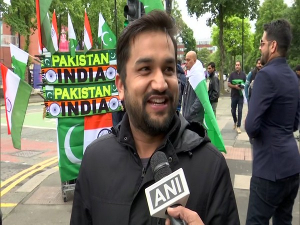 Indian fan outside the Old Trafford Stadium ahead of India-Pakistan match