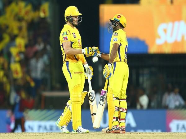 CSK batsmen Shane Watson and Ambati Rayudu (Photo/IPL twitter)