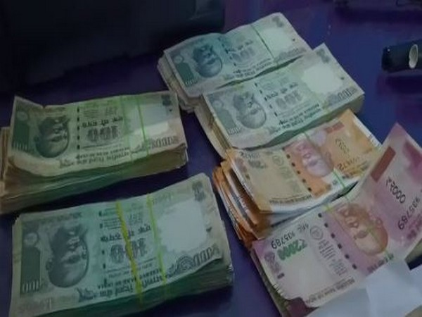 Fake currency notes seized by the police in Andhra Pradesh's West Godavari district on Friday.
