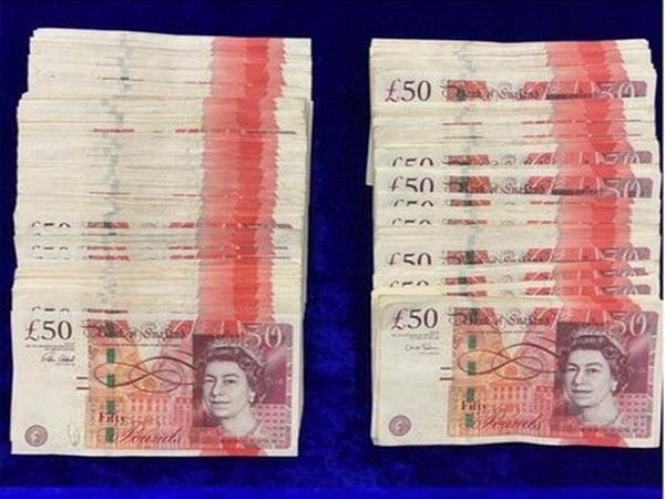 Visiual of the foreign currency seized by the Customs Department.