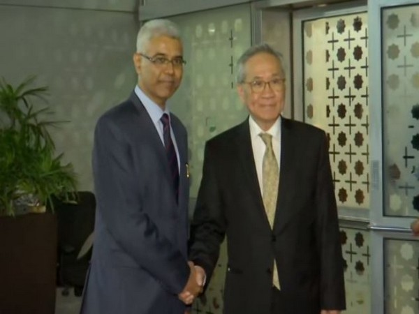 Thailand Foreign Minister Don Pramudwinai arrives in New Delhi on Wednesday evening. (Photo/ANI)