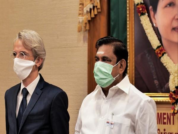 Tamil Nadu Chief Minister Eddappadi K Palaniswami on Tuesday met French ambassador Emmanuel Lenain