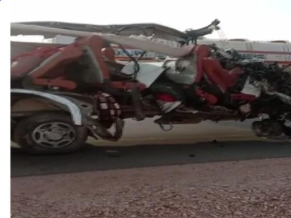 Visual of accident in Jodhpur (Photo/ANI)