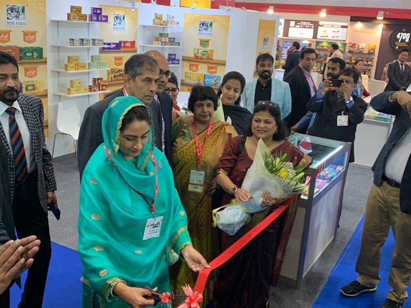 Union Minister Harsimrat Kaur Badal inaugurates the India Pavilion at 25th Edition of the GulFood 2020 in Dubai. (Photo/ANI)